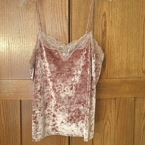 🌸Beautiful Blush Pink velvety Cami